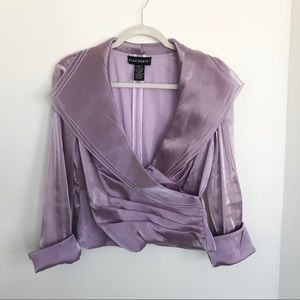 CACHET II Vintage purple evening top